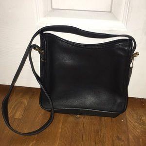 Vintage Black Coach Crossover Bag